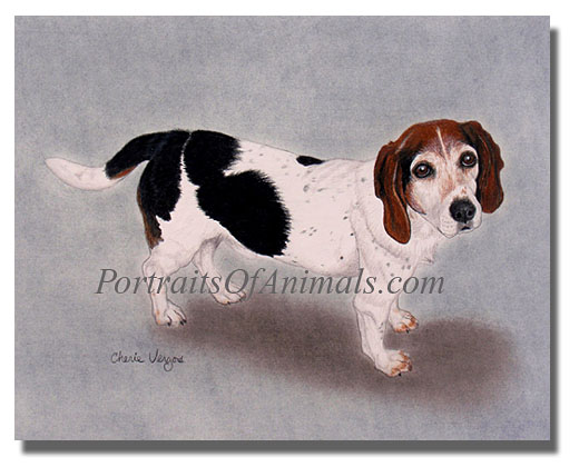 Beagle Dog Portrait painting