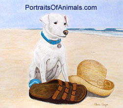 Jack Russell Terrier Dog Portrait - Pet Portraits by Cherie
