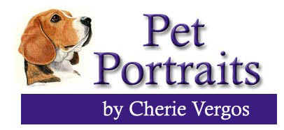 Dog, Cat and Horse Paintings Hand-drawn from your photo by animal artist Cherie Vergos